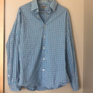 Express Large fitted stretch cotton button shirt